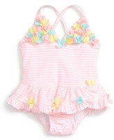 Little Me Infant Girl's Floral Skirted One-Piece Swimsuit