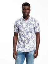 Old Navy Slim-Fit Indigo-Patterned Shirt For Men