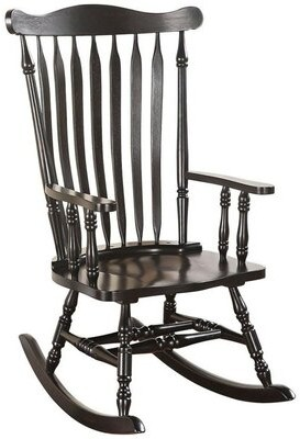 August Grove Levin Wooden Rocking Chair