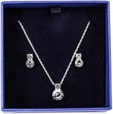 Swarovski Brilliant Crystal Rhodium Solitaire Necklace and Earrings Set 1807339