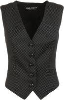 Dolce & Gabbana Black/white Polka Dot Vest