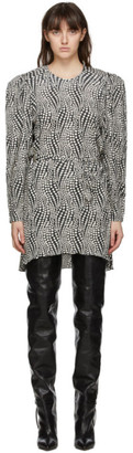 Isabel Marant Black and White Telen Dress