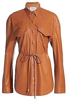 Nanushka Women's Eddy Vegan Leather Shirt