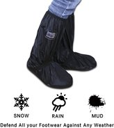 LC-dolida Rain Shoe cover, Rain Boot Waterproof with Velcro and Adjustable Tied Rope Again for Rain, Snow,ud