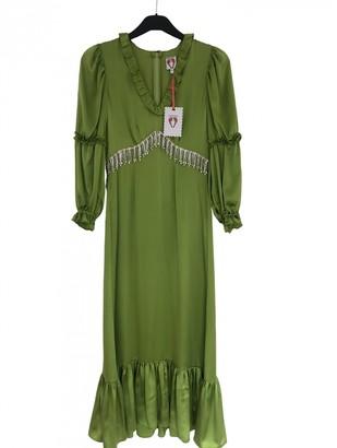 Shrimps Green Silk Dresses