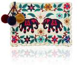 Figue Elephant Garden Zip Pouch In Istanbul Ivory
