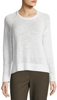 Eileen Fisher Organic Linen-Cotton Slub Sweater, Plus Size