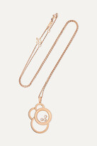 Thumbnail for your product : Chopard Happy Dreams 18-karat Rose Gold Diamond Necklace