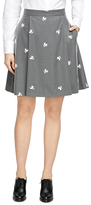 Brooks Brothers Wool Blend Twill Skirt