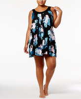 Alfani Plus Size U-Neck Printed Chemise, Created for Macy's