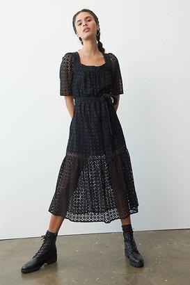 Maeve Josette Eyelet Midi Dress