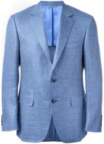 Canali checked blazer - men - Silk/Linen/Flax/Cupro/Wool - 48