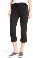 NYDJ Petite Women's Dayla Colored Wide Cuff Capri Jeans