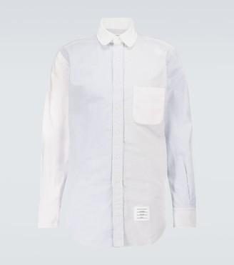 Thom Browne Fun-Mix long-sleeved striped shirt