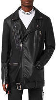 Topman AAA Collection Longline Faux Leather Biker Jacket