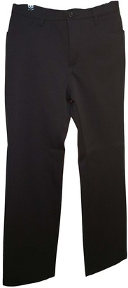 Burberry Black Polyester Trousers