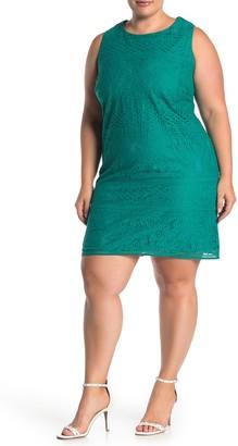 Brinker & Eliza Sleeveless Lace Shift Dress (Plus Size)