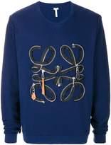 Loewe zip detail sweatshirt