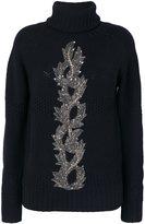 Mr & Mrs Italy bead embroidery turtleneck jumper