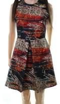 Hunter Bell Black Red Women's Size 4 Abstract Print Sheath Dress