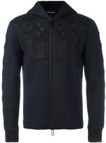 Emporio Armani patched zipped hoodie