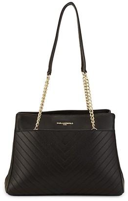 Karl Lagerfeld Paris Charlotte Leather Tote