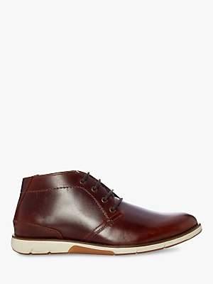 Dune Collide Leather Chukka Boots, Tan