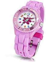 Jo for Girls Flower Quartz Watch for Girls 50m Water Resistant with Pink Silicone Strap