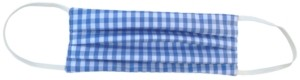 Paddy Lee Fashions Adult Gingham-Print Pleated Cloth Face Mask