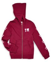 True Religion Girl's TR Star Long Sleeve Cotton Hoodie