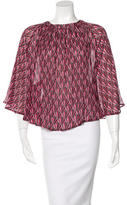 Dagmar Silk Printed Blouse