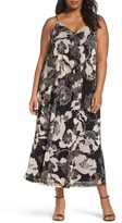 Sejour Plus Size Women's Print Maxi Slipdress