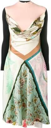 Marine Serre patchwork flared dress