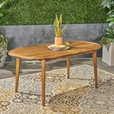 Meriam Solid Wood Dining Table George Oliver Top Color: Teak