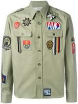 Alexander McQueen patch detailed shirt