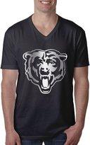 ZSHIWENH Men's Chicago Bears Platinum Logo V-Neck T-shirt