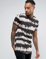 Religion T-Shirt with Dripping Paint Stripe
