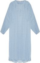 Mes Demoiselles Stitch V-neck cotton dress