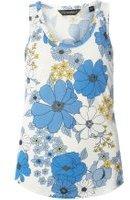 Dorothy Perkins Womens Blue Floral Viscose Vest- Blue