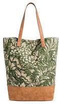 Merona Women's Tote Handbag Green Print