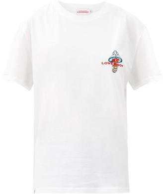 Charles Jeffrey Loverboy Logo-embroidered Organic-cotton Jersey T-shirt - White