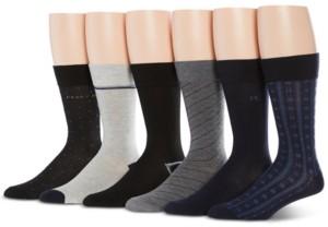Perry Ellis Men's 6-Pk Speed Dry Printed Socks