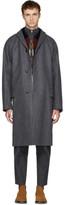 Kolor Grey Long Wool & Cashmere Coat