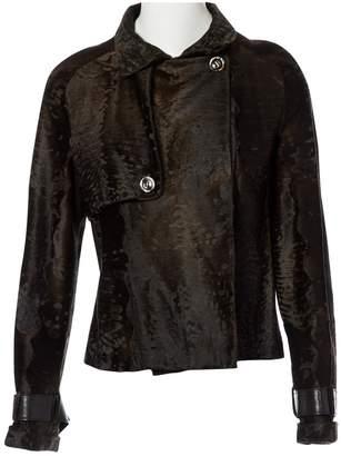 Valentino Brown Fur Jackets