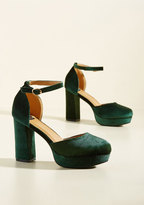 NYLA Shoes Inc. Go With the Stride Velvet Heel in Pine