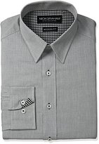 Nick Graham Men's Micro Check Cotton Dress Shirt