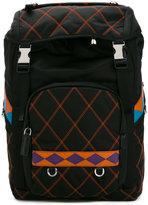 Prada double buckle backpack
