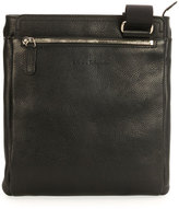 Salvatore Ferragamo Men's Leather Messenger Bag, Black