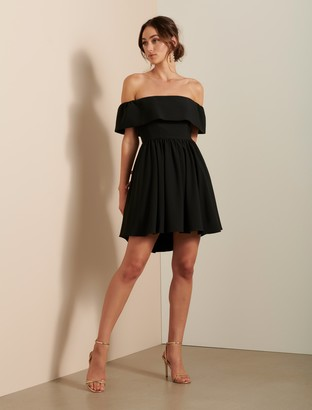Forever New Tara Off-Shoulder Prom Dress - Black - 10