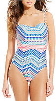 Kenneth Cole Reaction Colors Of Caracas Bandeau Back Lace-Up One-Piece